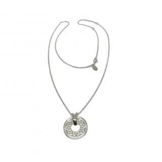 Cred Sterling Silver Disc Pendant Necklace
