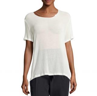 Iro White Chain Detail T-Shirt
