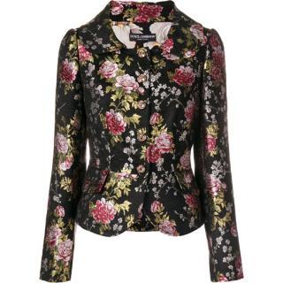 Dolce & Gabbana Black Floral Brocade Jacket