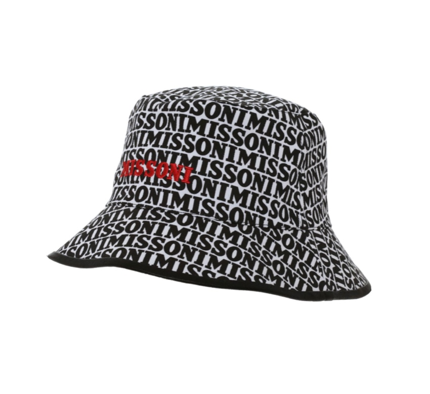 Missoni Logo Print Canvas Bucket Hat