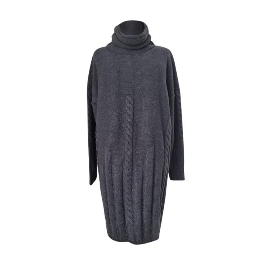 Max Mara Cable Knit Wool & Mohair Jumper Dress