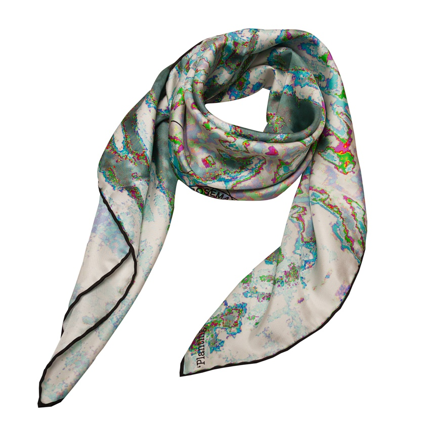 Rosemary Goodenough Opal Planting in Drifts VI Silk Scarf