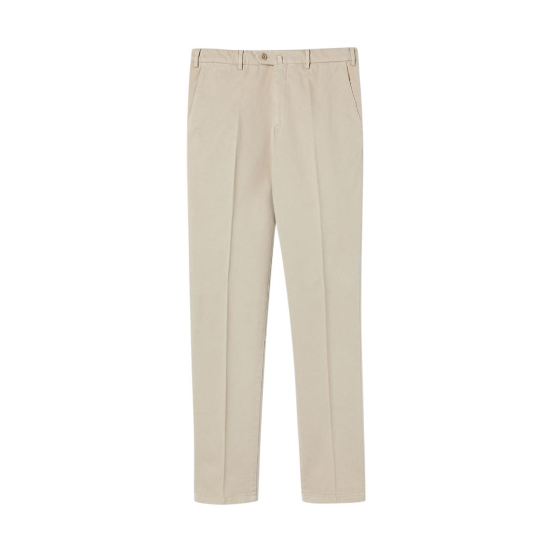 Loro Piana Beige Pantaflat Cotton Pants