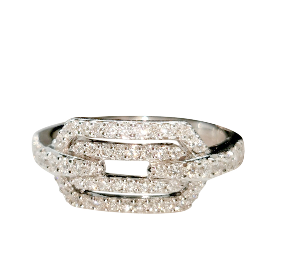 William & Son White Gold Diamond Ring