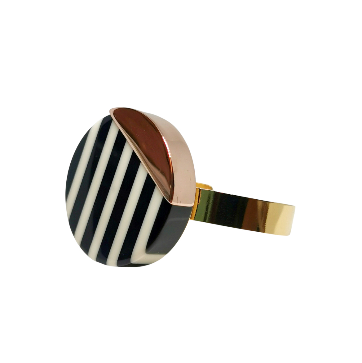 Wouter & Hendrix Rose Gold Tone Disc Bracelet