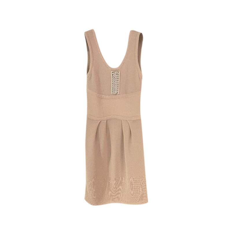 Fendi Knit lace-Up Sleeveless Dress