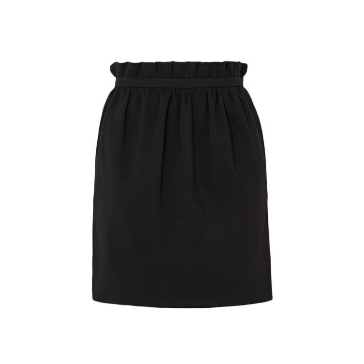 Versace Crepe Ruffle Waist Mini Skirt