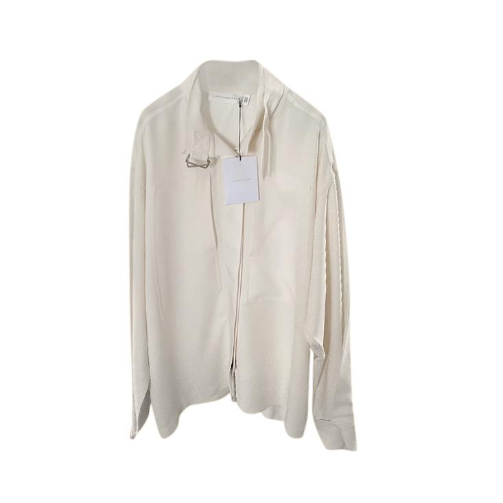 Victoria Beckham Ivory Cady Ruffle Shirt