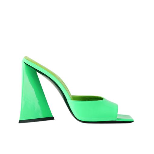 The Attico Sold Out Bright Green Devon patent-leather mule