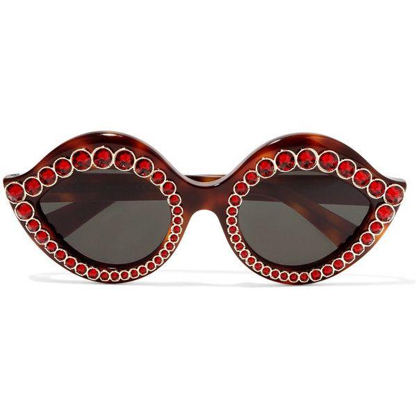 Gucci Cat-eye Crystal-embellished Acetate Sunglasses