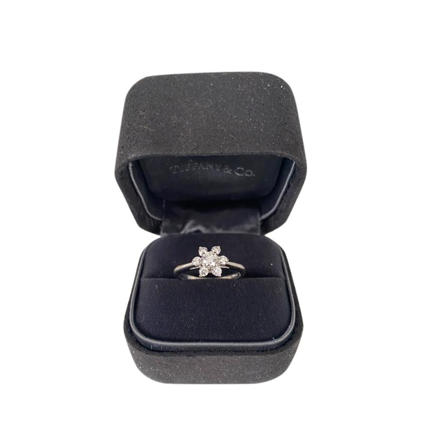 Tiffany & Co. Platinum Set Diamond Flower Ring