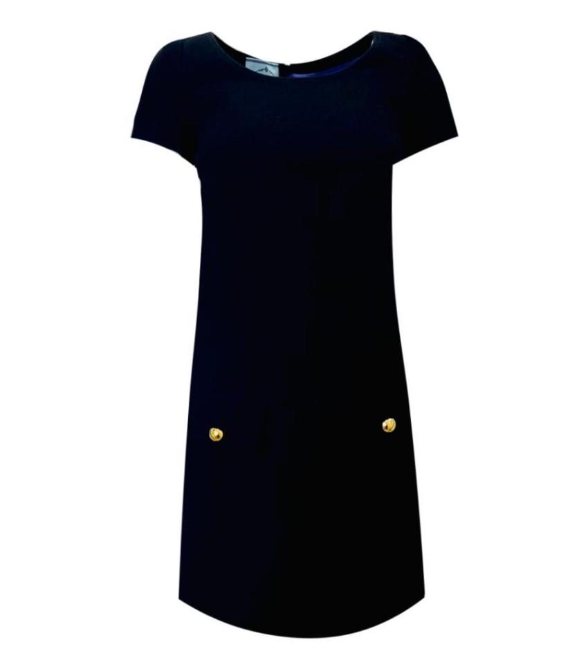 Prada Black Wool Mini Dress