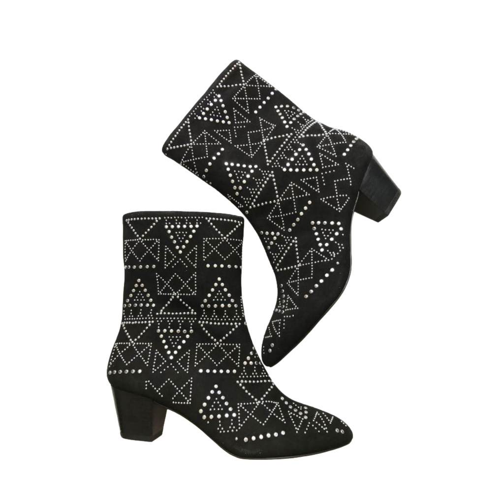 Rebecca Minkoff Suede Studded Ankle Boots
