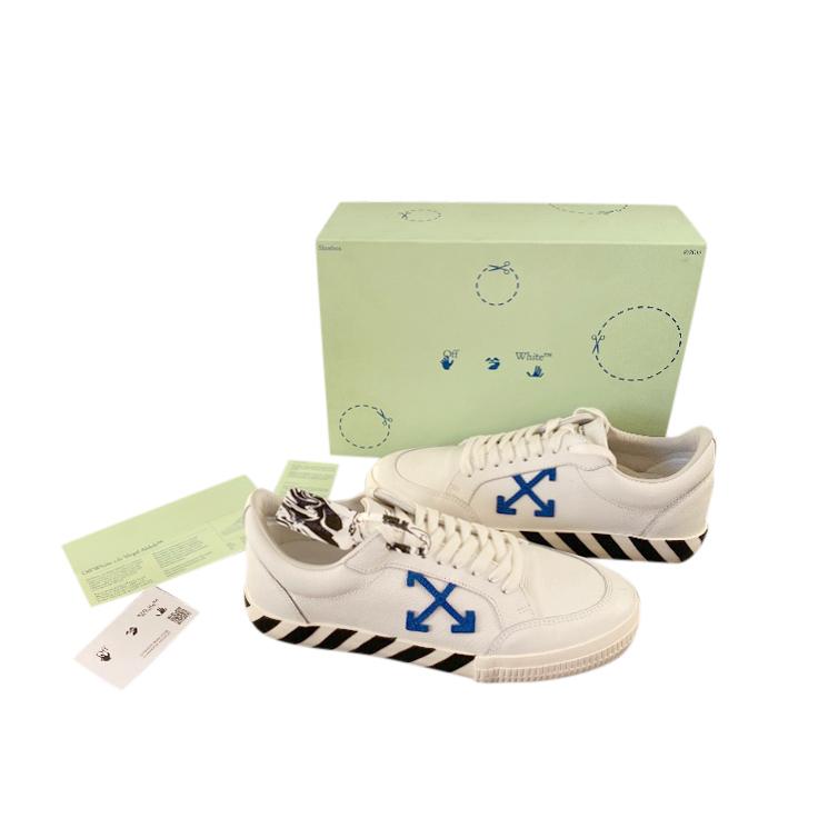 Off White Low Top Vulcan Sneakers