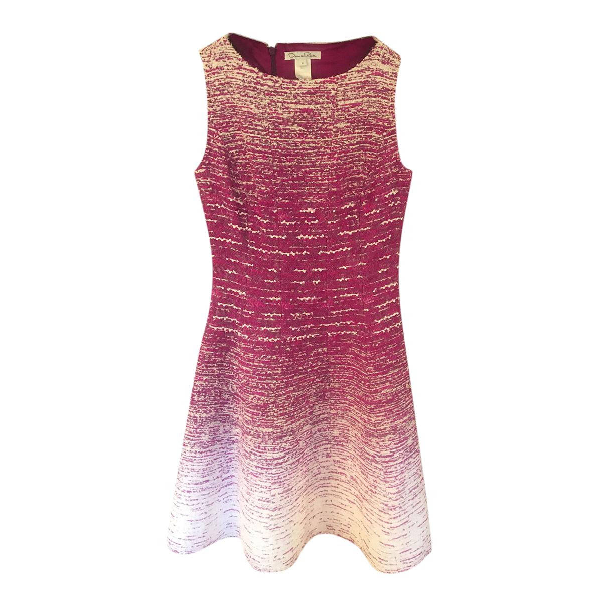 Oscar De La Renta Pink Ombre A-Line Dress