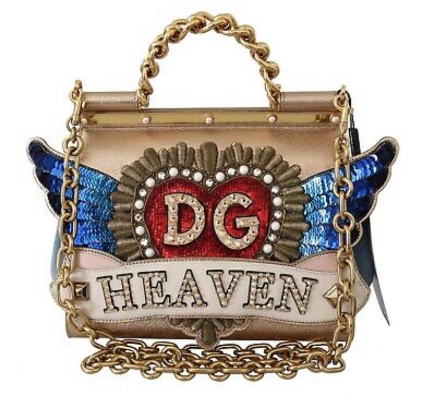 Dolce & Gabbana Metallic Winged DG Heaven Sicily Bag