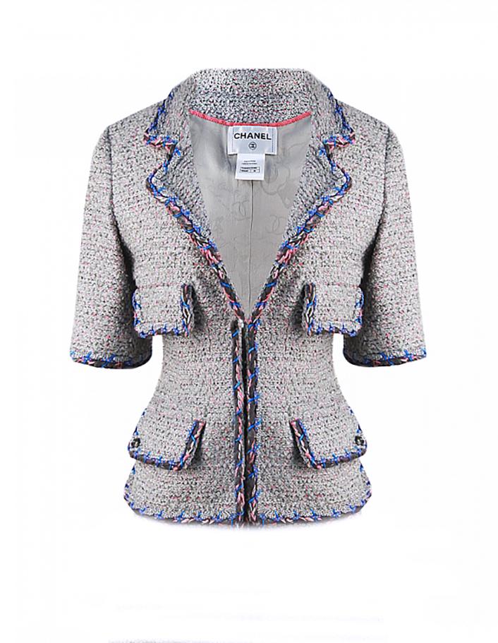 Chanel Runway Pastel Braided Trim Tweed Jacket