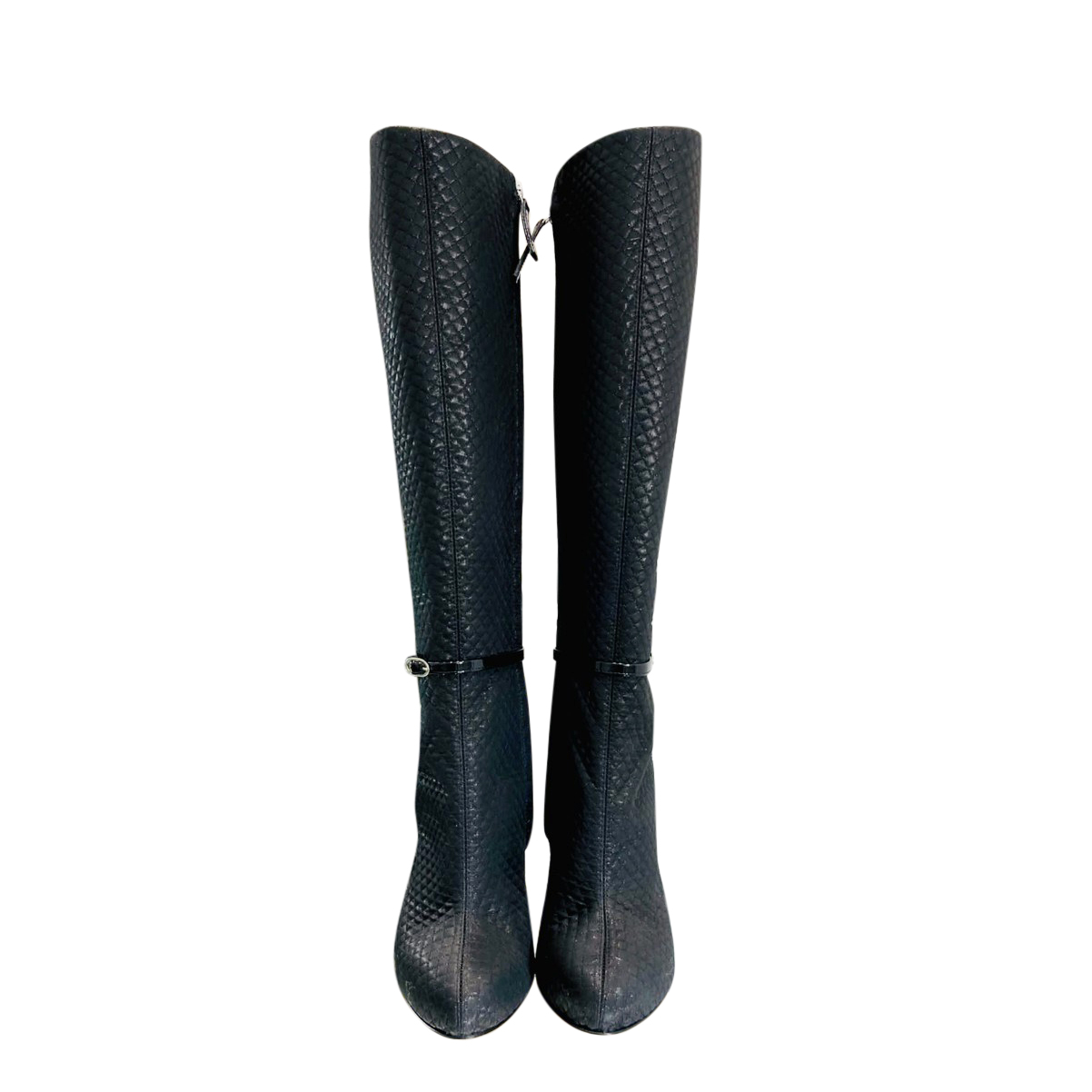Giuseppe Zanotti Cameo Heel Quilted Knee Boots