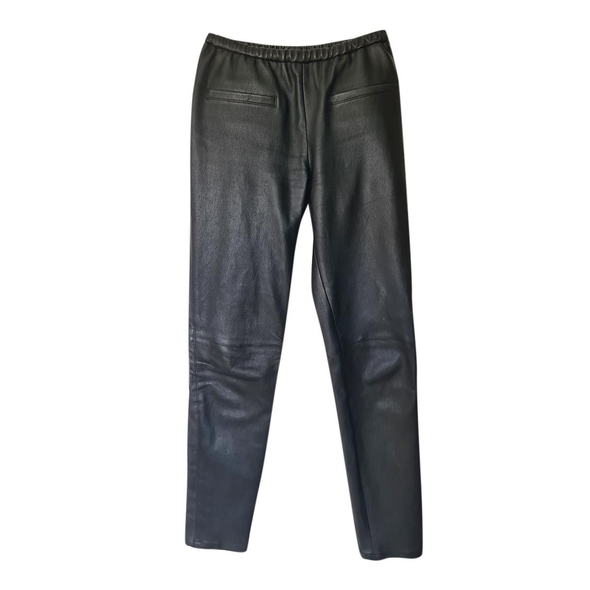 Emilio Pucci Black Leather Pants
