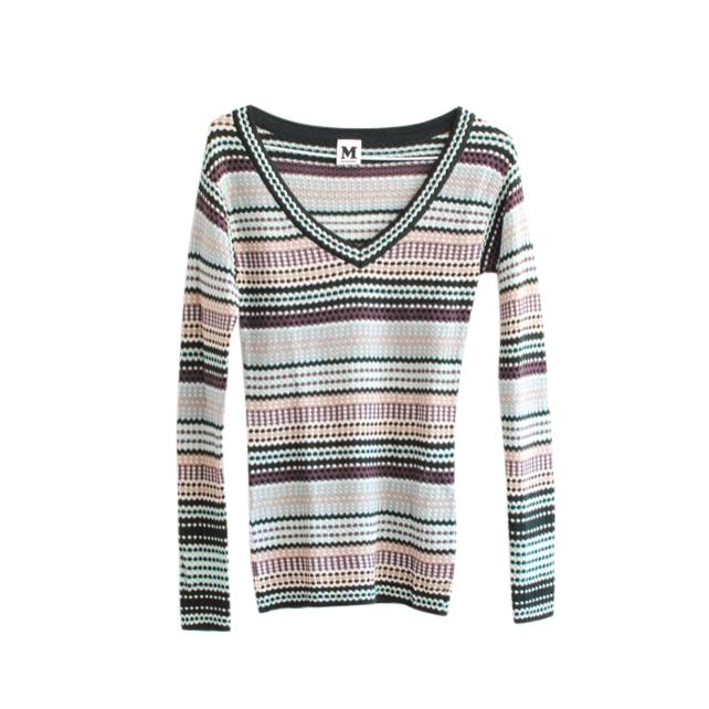 M Missoni Striped Knit LS Top