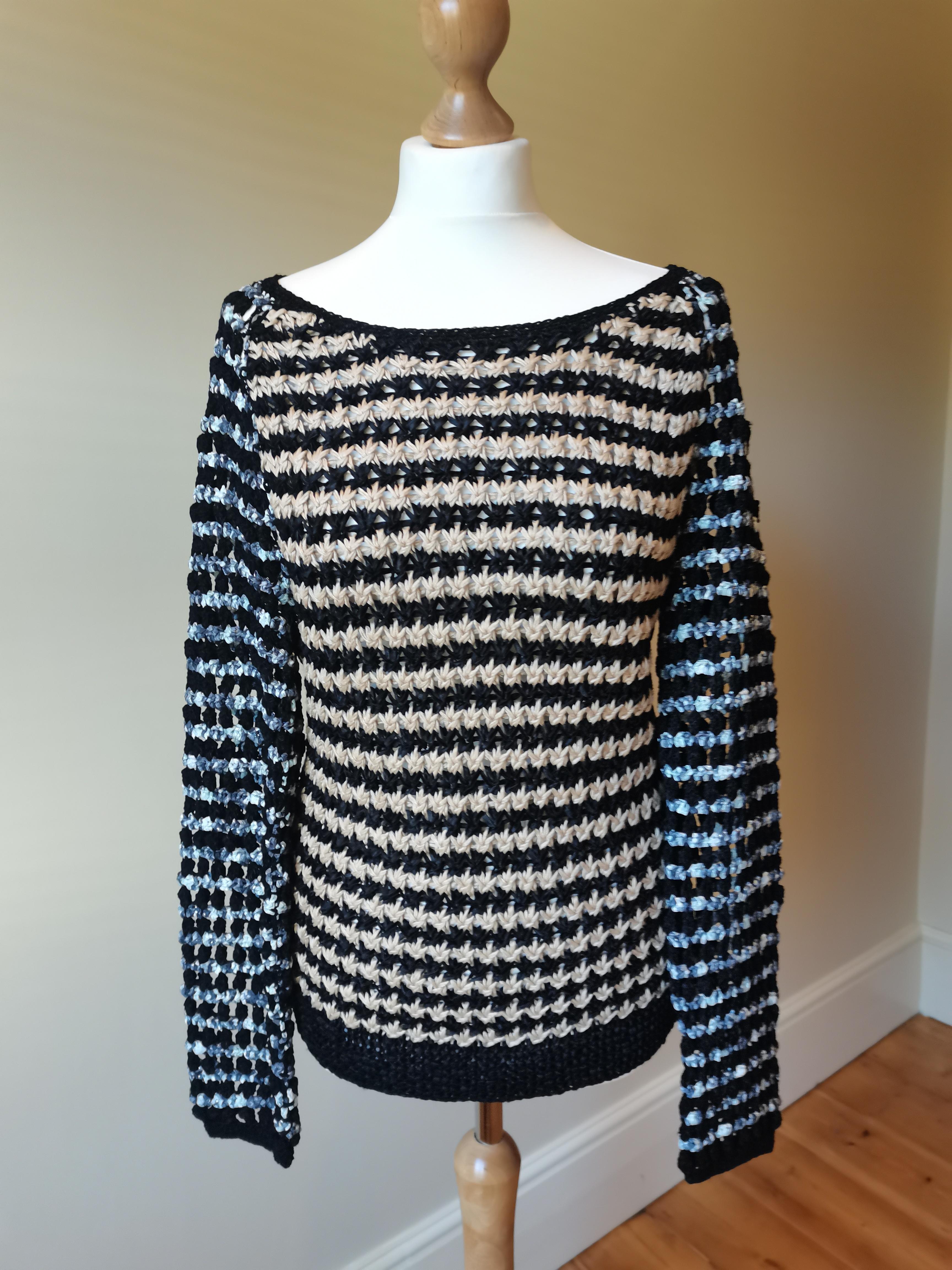 Rag & Bone Black & Silver Woven Knit Jumper