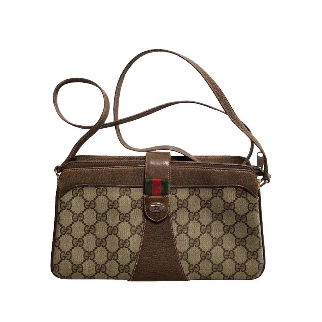 Gucci Vintage Monogram Supreme Ophidia Shoulder Bag