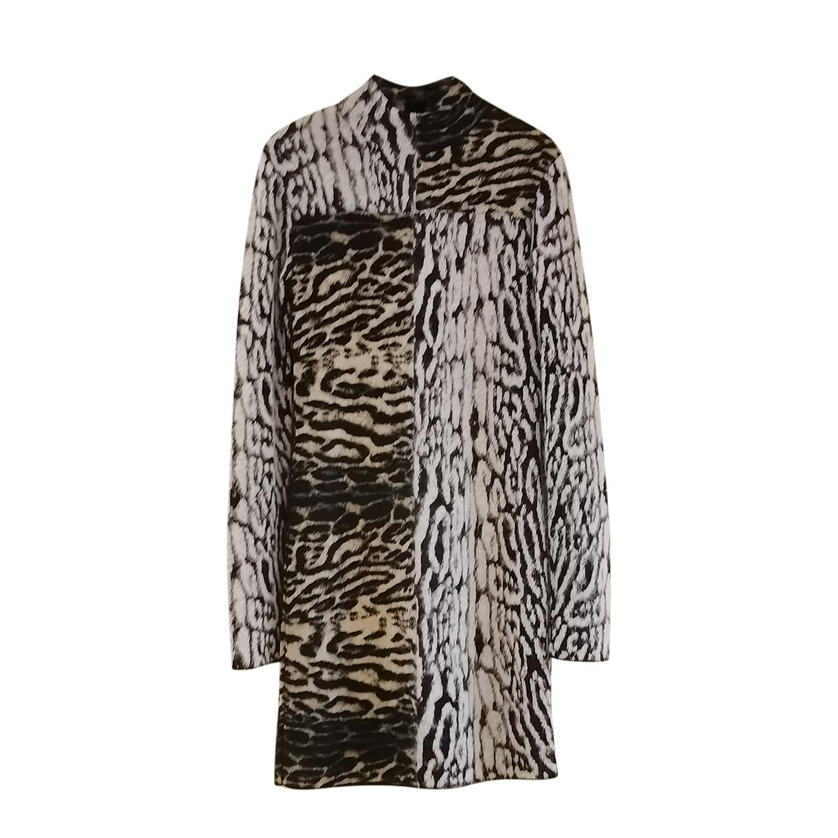 Roberto Cavalli Wool & Alpaca Blend Mini Dress