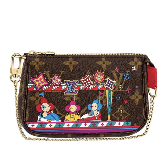 Louis Vuitton Christmas Mini Pochette Accessoires Monogram Bag