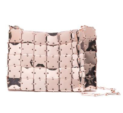 Paco Rabanne Pink Gold Tone Nano 1969 Bag