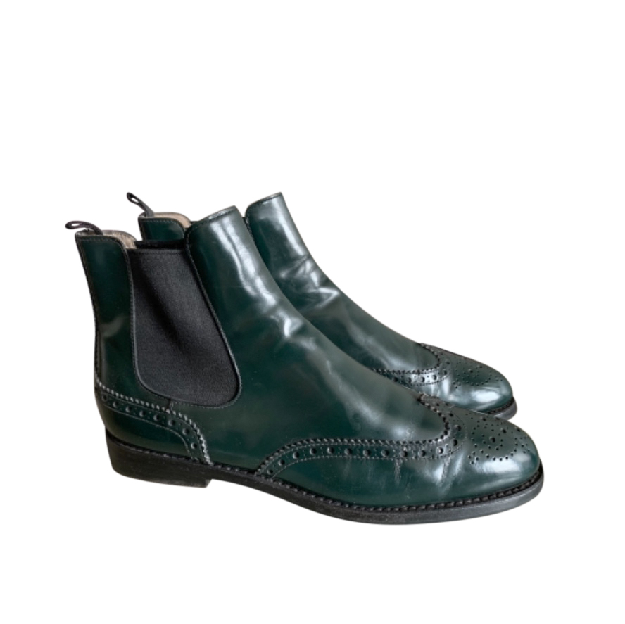 Church's Bottle Green Ketsby Brogue Ankle Boots