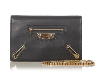 Balenciaga Metal Plate City Chain Wallet Bag
