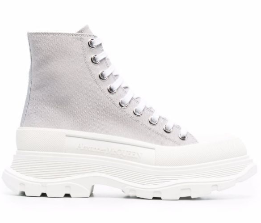 Alexander McQueen Grey Tread Slick high-top Sneakers