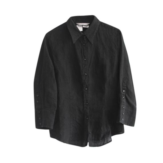 Max Mara Black Linen Shirt