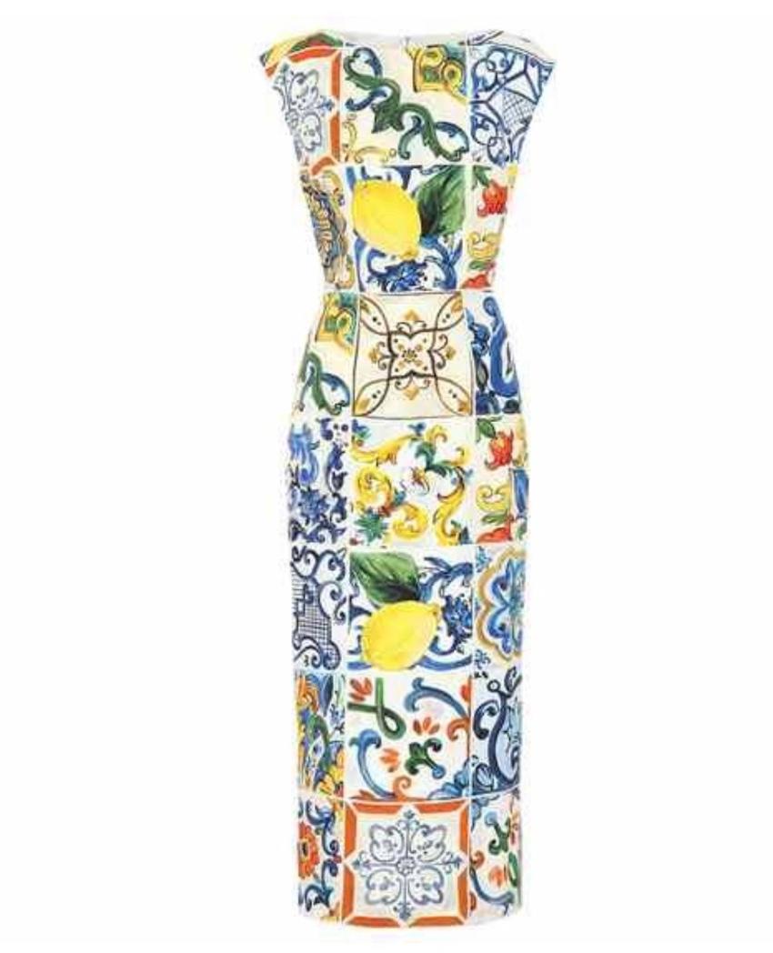 Dolce & Gabbana Majolica Print Midi Dress