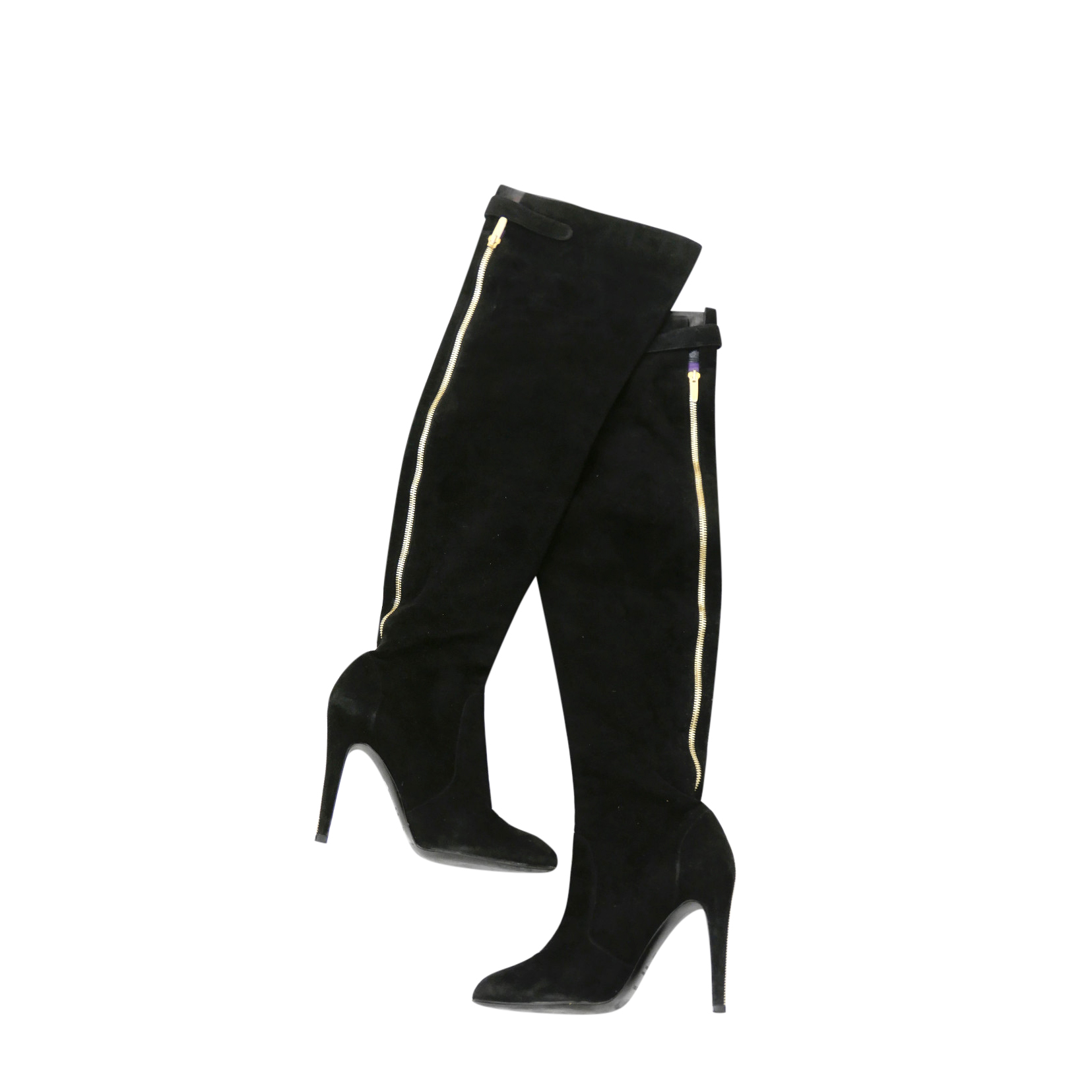 Sergio Rossi Black Suede OTK Boots