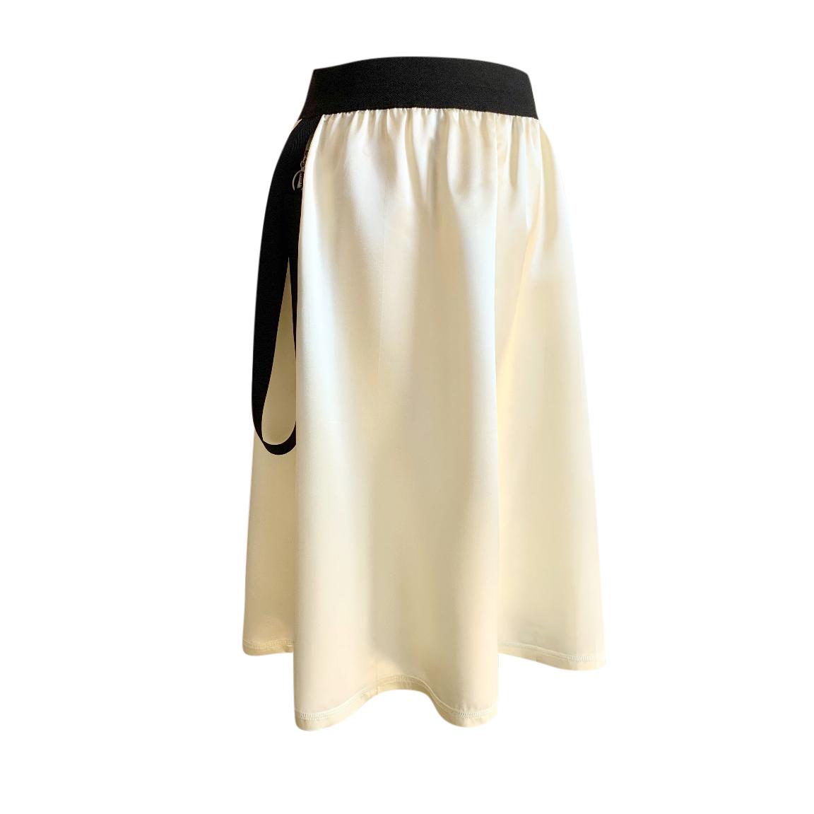 Celine by Phoebe Philo Ivory & Black Satin Skirt