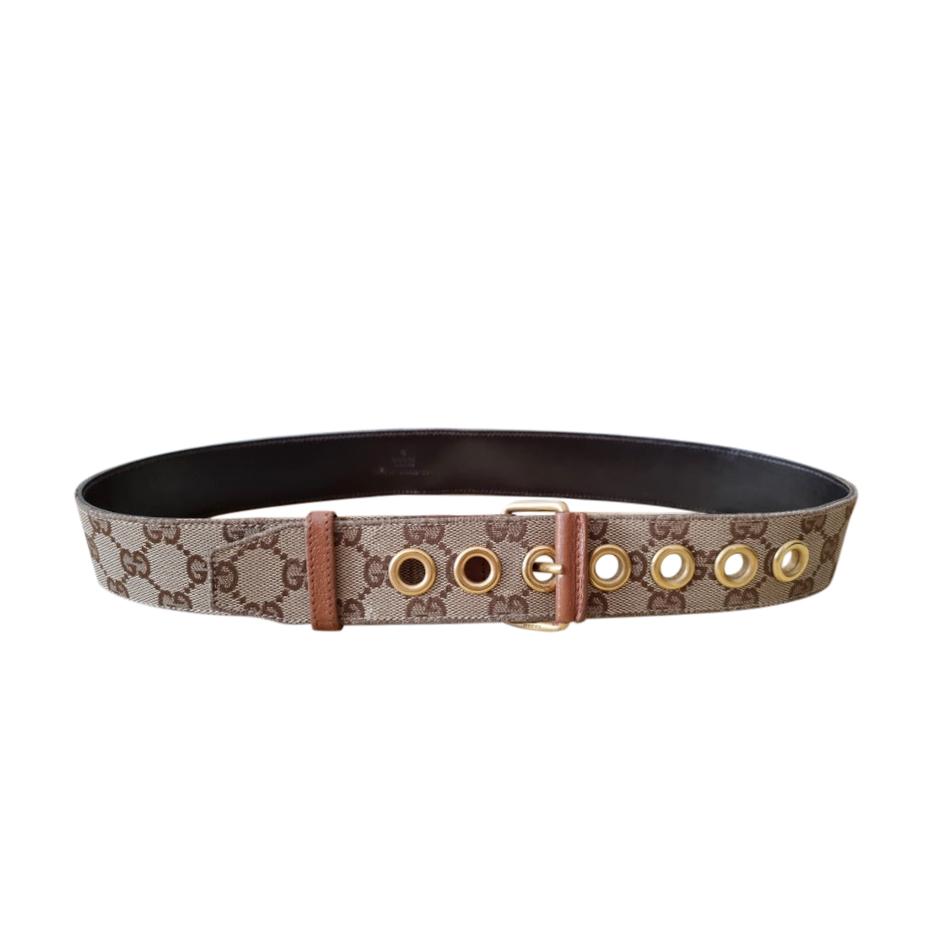 Gucci Vintage Supreme GG Eyelet Belt - Size 80