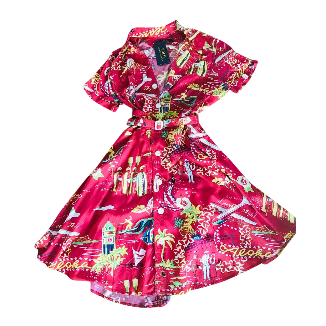 Polo Ralph Lauren Tropical Floral Print Shirt Dress