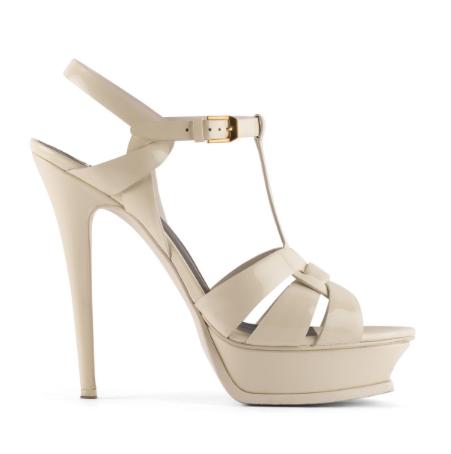 Saint Laurent Nude PlatformTribute Sandals 140mm