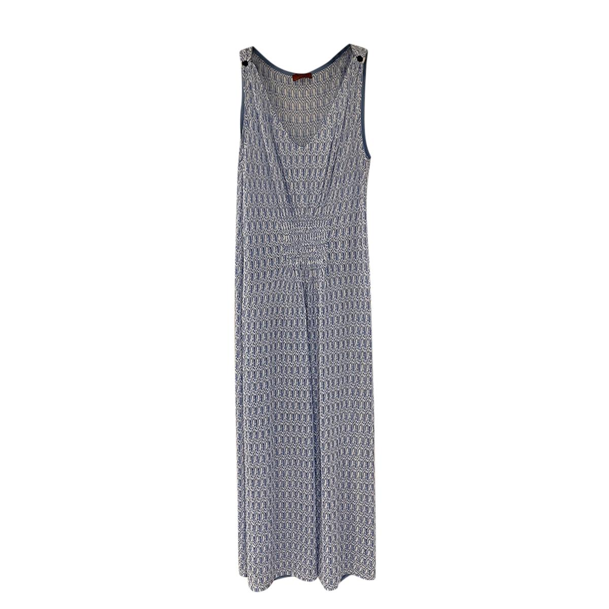 Missoni Mare Blue Knit Sleeveless Kaftan