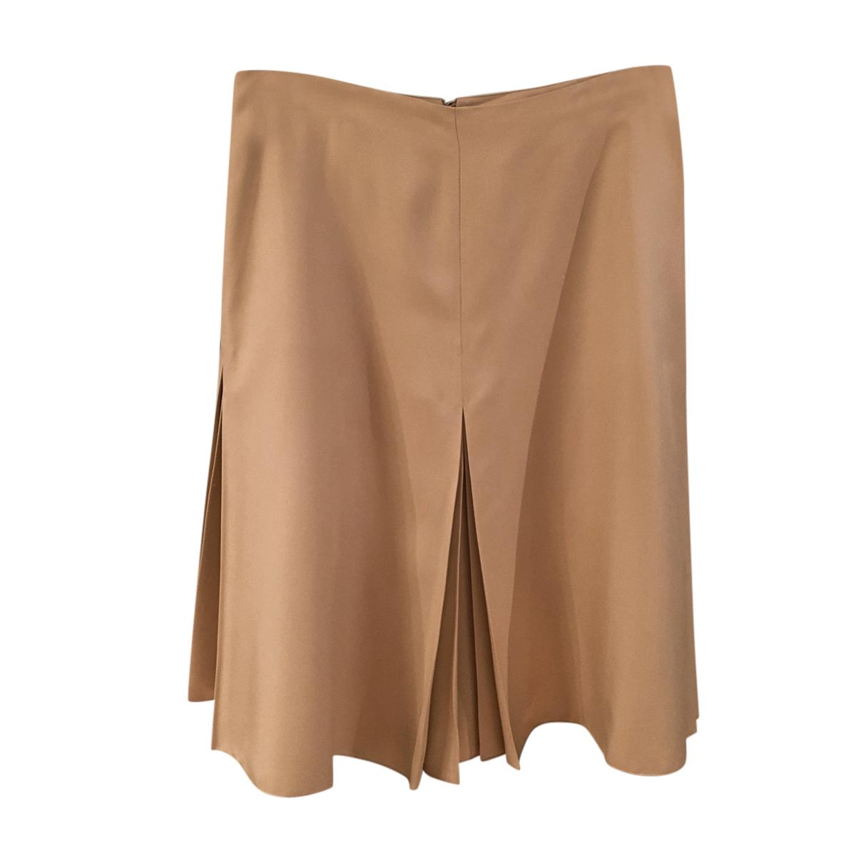 Loro Piana Beige Silk Skirt