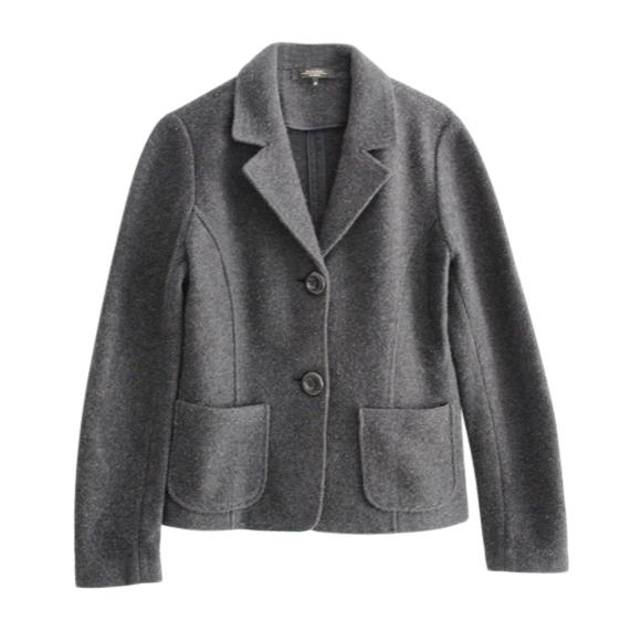 Weekend Max Mara Grey Wool Short Jacket