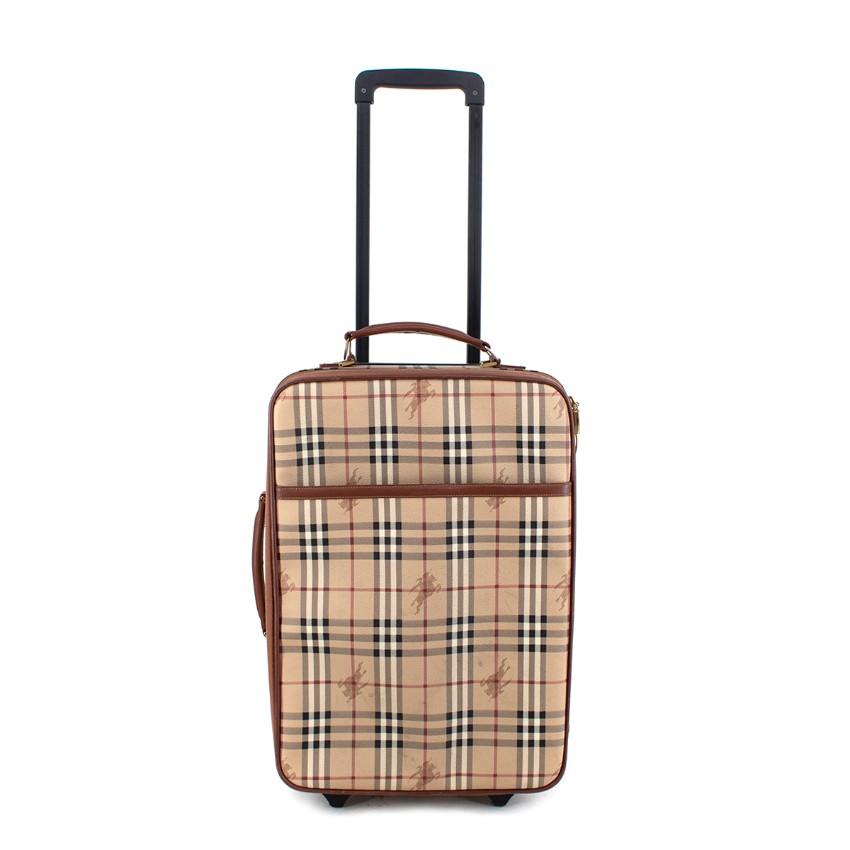 Burberry Vintage Horseferry Check Honey Canvas 2-Wheel Suitcase