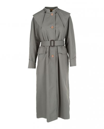 Gucci Grey Oversize Cotton Blend Trench Coat
