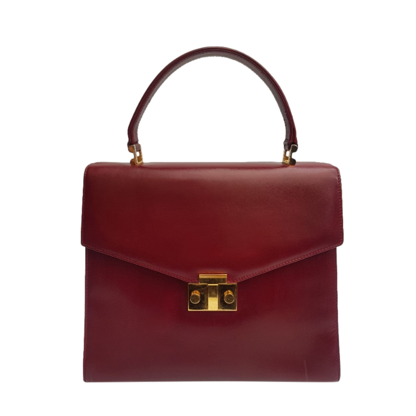 Tiffany & Co. Vintage Burgundy Leather Handbag