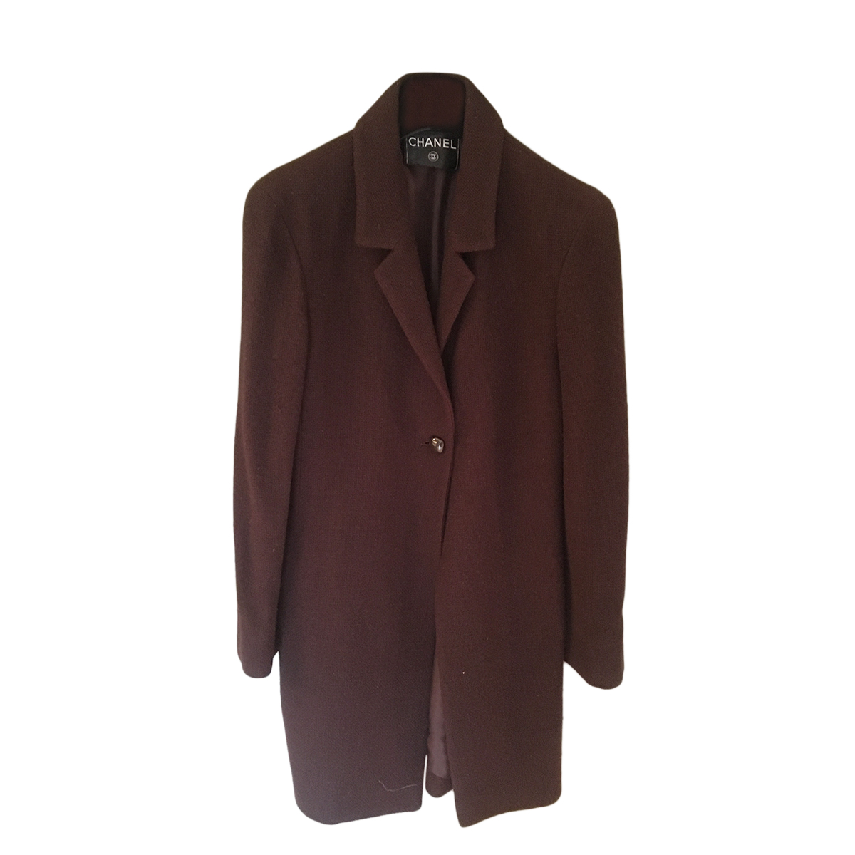 Chanel Brown Cashmere Tailored Coat