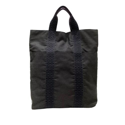 Hermes Grey Herline Cabas Tote Bag