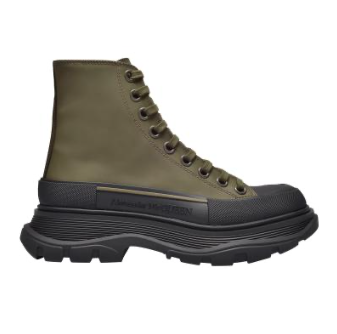 Alexander McQueen Khaki Tread Slick high-top Sneakers