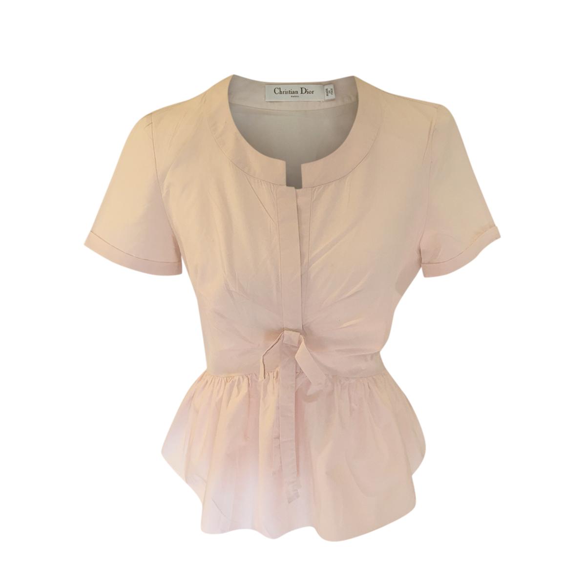 Dior Pale Pink Tie Waist Blouse