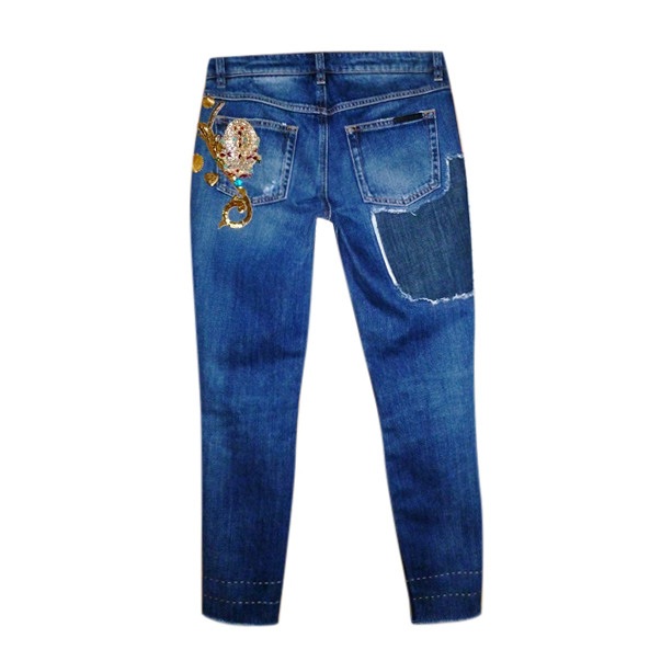 Dolce & Gabbana Tropico Italiano Embellished Jeans